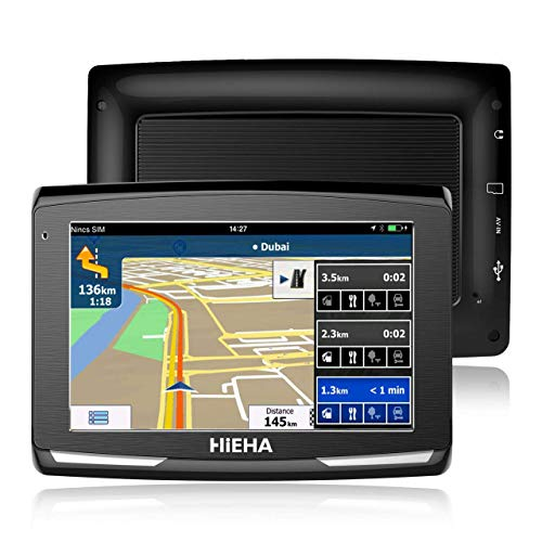 5' GPS Automatique de Voiture Moto 8GB, Hieha Appareil de Navigation Écran HD Tactile, Intégrer Le...