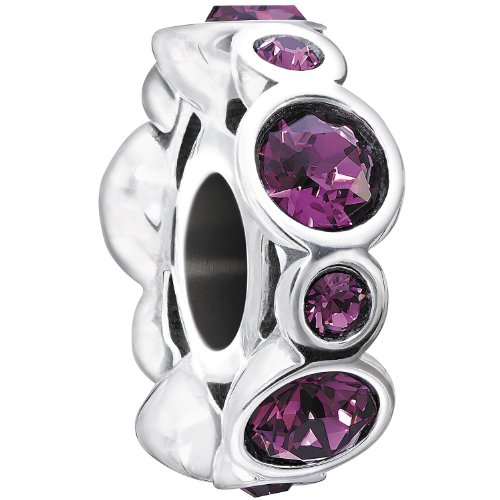 Chamilia 'Birthstone Jewels Sterling Silver and Swarovski Crystal February Bead Charm
