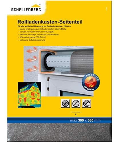 Schellenberg 66272 Rolladenisolierung Rollladenkastendämmung 2 Seitenteile 30 x 36 cm/ 15 mm, zur Isolierung an den Wellenenden