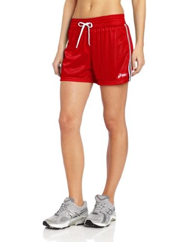 ASICS Women's Team Mesh Short, Red, Medium