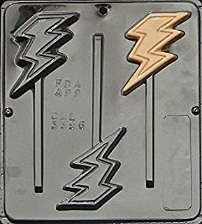 Candy Molds N More Lightning Bolt Lollipop Chocolate Candy Mold 3396