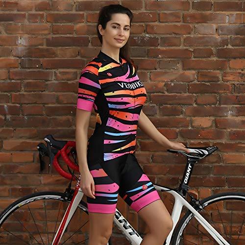 TZTED Maillots Ciclismo Mujer Conjunto De Ropa Verano Bicicleta Manga Corta +...