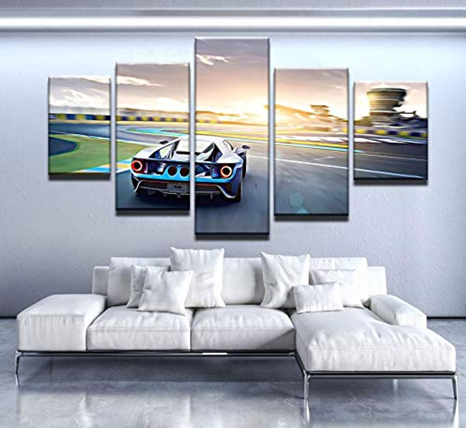 Canvas Painting Living Room Wall Poster Frames 5 Panel Car Abstract Canvas Painting Wall Art Poster Wall Picture Framed