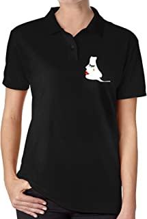 MZONE Women's Cafe Society 2016 Cool Polo T Shirt
