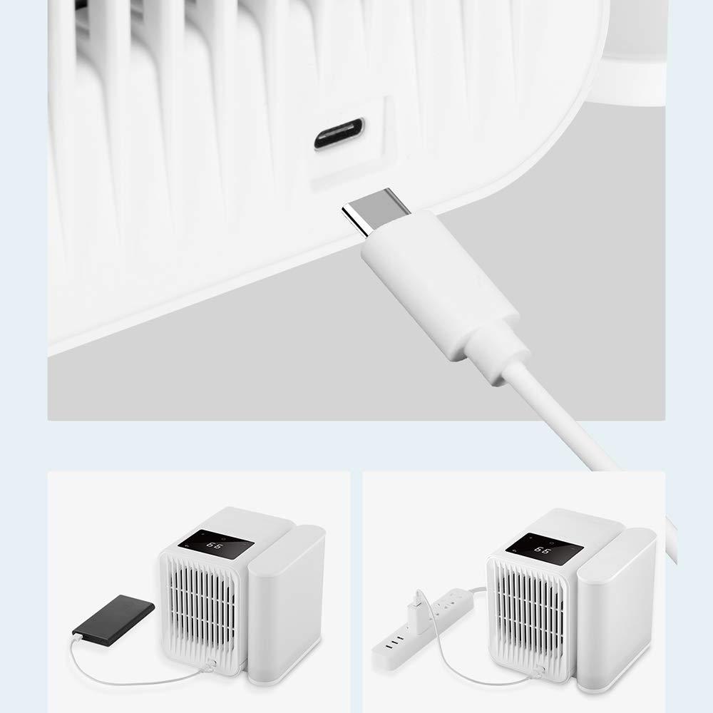 Dreame Aircooler - Ventilador de aire acondicionado para escritorio, pequeño enfriador de aire personal USB, humidificador, refrigeración con mango portátil para Home Room Office: Amazon.es: Bricolaje y herramientas
