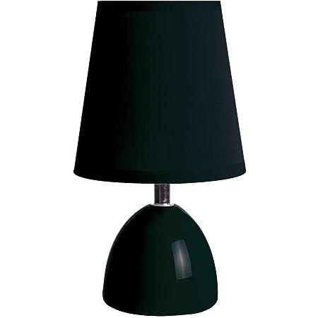 Lussiol 233736 Lampe de Chevet, 40 W, Noir, petite