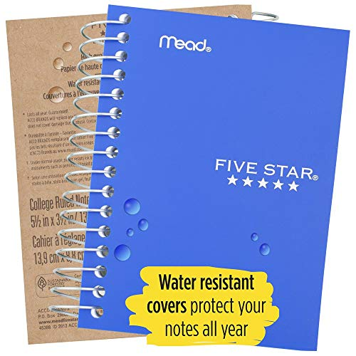 """Five Star Spiral Notebook, Fat Lil' Pocket Notebook, College Ruled Paper, 200 Sheets, 5-1/2"""" x 3-1/2"""", Color Selected For You, 1 Count (45388) Photo #6"""