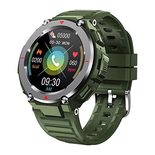 SYLL Reloj Inteligente, Reloj con monitorización de frecuencia cardíaca y ECG, Llamada Bluetooth, monitorización del sueño, rastreador de Actividad física,Verde