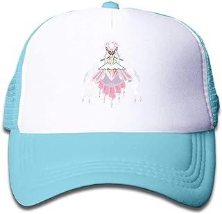MWHprint Youth Adjustable Mesh Hats Baseball Trucker Cap for Boys and Girls, Pokemon Diancie Mega, Black, Sky Blue, Pink