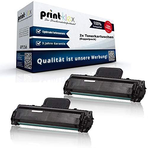 2x Kompatible Tonerkartuschen für Samsung ML 1865 W SCX 3000 SCX 3200 SCX 3200 Series SCX 3200 W SCX 3205 SCX 3205 W Doppelpack MLT-D104S MLT-D104X MLTD104S MLTD104X - Print Line Serie