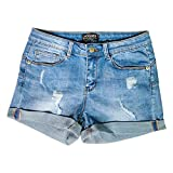 hocaies donna shorts in jeans sexy signore vita alta buco denim pantaloncini caldo nappe pantaloni vicino club jeans vita bassa hot pants elastici denim donne (it 42 (26w), 03 blu chiaro)