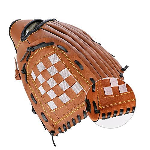 JVSISM 9,5 Zoll Linke Hand Baseball Handschuh Erwachsene Dicke PU Kunstleder Baseball Handschuh Kind Teenager Pitcher mit Softball Handschuh