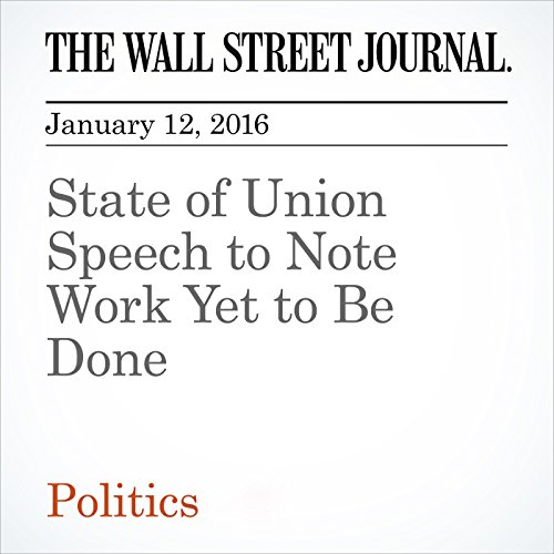 State of Union Speech to Note Work Yet to Be Done audiobook cover art