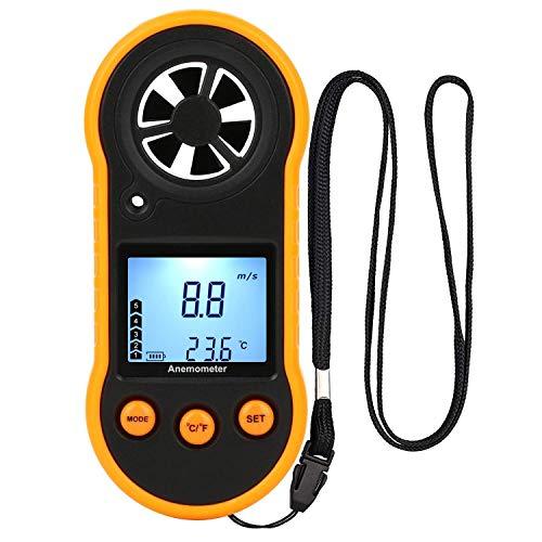 Anemometro digitale,misuratore di velocità del vento,misuratore di velocità del flusso d'aria per...