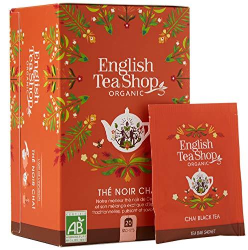 English Tea Shop Organic Chai Black Tea - 20 Tea Bag Sachets