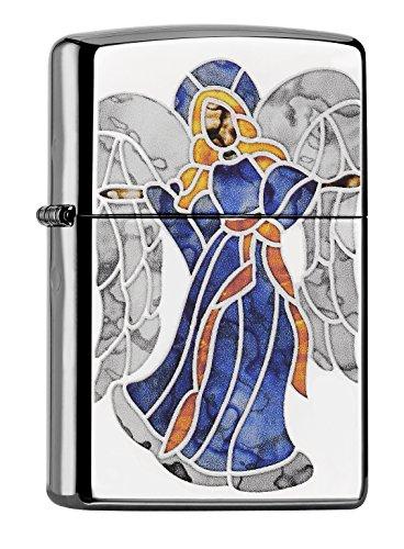 Zippo 60001412 Z Fusion Angel Feuerzeug, Messing, Edelstahl, 1 x 3,5 x 5,5 cm