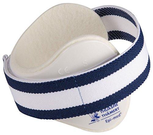 Epimed Tennisbandage für Ellenbogen, Verwendung bei Tennis- oder Golferarm, weiß, Medium 26-27cm