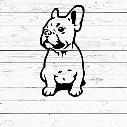 6 inches French Bulldog Decal Sticker - French Bulldog Mom Frenchie - Dog Pet Decal Sticker for Laptop MacBook Yeti Tumbler Car Truck Window FRB7
