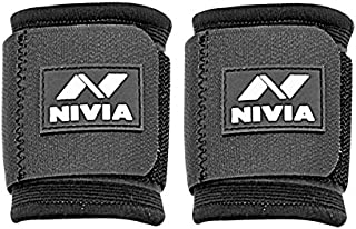 Nivia Wrist Support, Pack of 2 (Black)