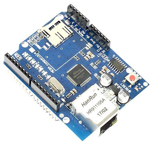 Ethernet Shield + Memory Slot per schede di memoria microSD, W5100 Controller per Arduino UNO/Mega