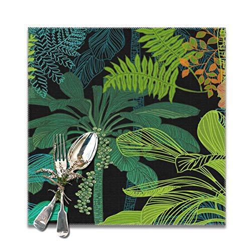 Dearl - Juego de 6 manteles individuales individuales antideslizantes para jardín, jardín en los trópicos, resistentes al calor, para cocina, mesa de comedor, Acción de Gracias y Navidad, 30 x