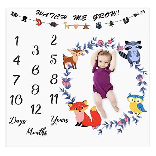Manta de hito mensual para bebés