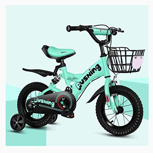 smzzz Sport im Freien Pendler Stadt Rennrad Fahrrad Reisen Kinderfahrrad 2-3-4-6-7 Jahre Alter Junge Mädchen Fahrrad 12-16 Zoll Kinderfahrrad