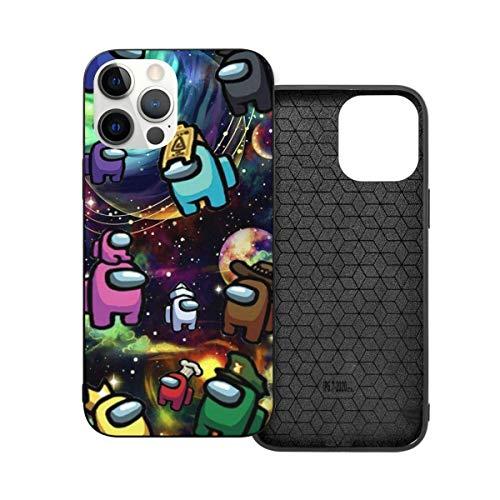 Compatible con iPhone 12/12 Pro MAX 12 Mini 11 Pro MAX SE X/XS MAX XR 8 7 6 6s Plus Funda Among Us Merch Impostor Black Cajas del Teléfono Cover