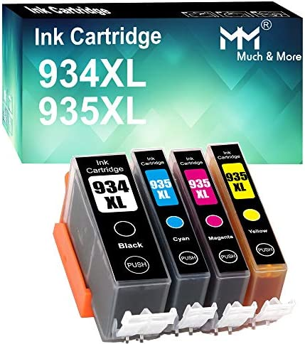 4 Pack Black Cyan Magenta Yellow Compatible HP 934XL 935XL 934 XL 935 XL Ink Cartridge Use for product image
