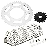 Caltric Drive Chain and Sprockets Kit Compatible with Yamaha R6 YZF R6 2003 2004 2005