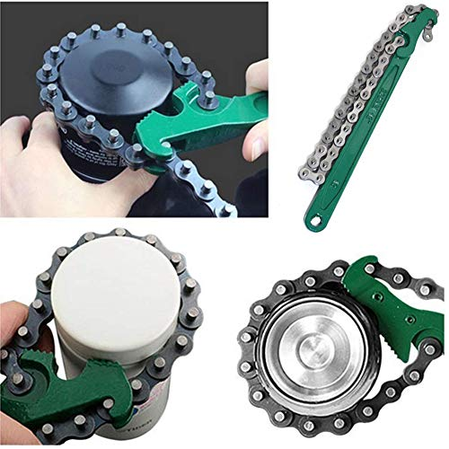KOOTANS 12 Inch Heavy Duty Reversible Chain Wrench fits 1.5