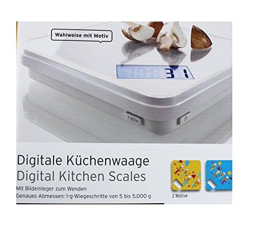 Tchibo TCM Digitale Küchenwaage Waage mit Bildeinleger zum Wenden