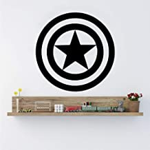 BJWQTY Pegatina de Vinilo para Pared del Capitán América cómics de decoración autoadhesiva para el hogar decoración de Arte extraíble para Dormitorio Infantil