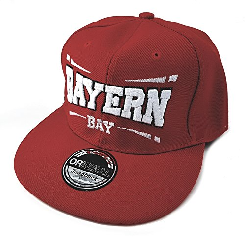 Snapback Fussball Bundesliga Fan Sports Caps Basecap Bayern Bay rot