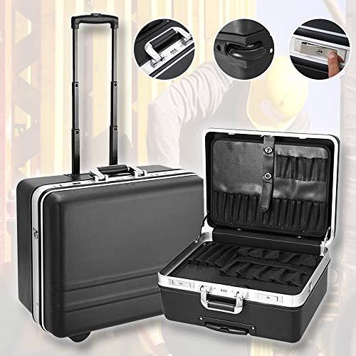 Meditool Werkzeugkoffer Werkzeugtrolley Werkzeugkasten Rollkoffer Werkzeug Trolley Set, 51 x 40 x 28cm