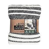 Life Comfort ECO Plush Throw 60 x 70 Inches ,White