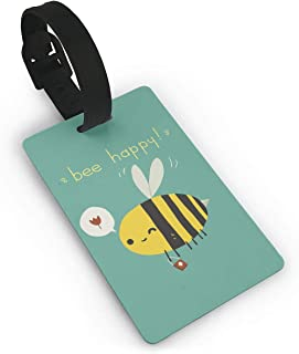 Cute Happy Honey Bee Luggage Identification Tag Suitcase Label Bag Travel Accessories For Men Women