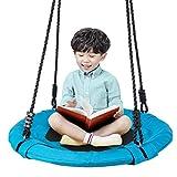 Homde Upgrade Version Flying Saucer Swing Anti-Fade Tree Swing Set Outdoor Indoor Swings with Adjustable Straps for Kids, Men, Women and Teens (24 Inch Upgrade Version)