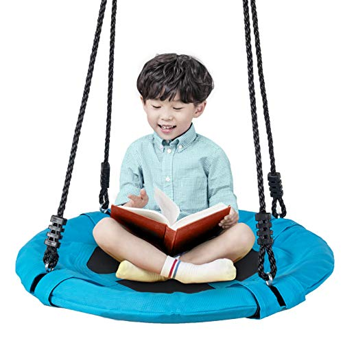 Homde Upgrade Version Flying Saucer Swing Anti-Fade Tree Swing Set Outdoor Indoor Swings with Adjustable Straps for Kids, Men, Women and Teens (24 Inch Upgrade Version)