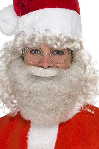 Smiffys 21352 - Heren Deluxe Kerstman Bart, One Size
