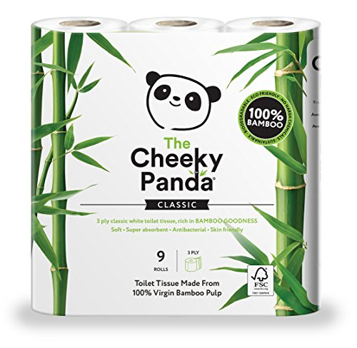 The Cheeky Panda Ultra Sustainable Hypoallergenic Bamboo Toilet Roll - 9 Rolls