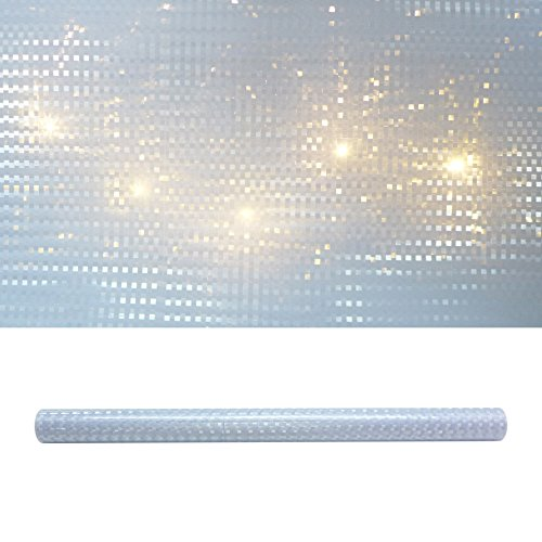 3D SQUARE Folie 33 x 100 cm. Lichteffekt-Folie. Karo- Würfel- Muster.