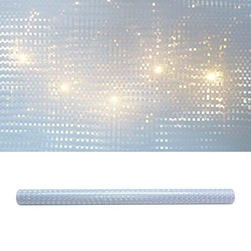 creativ home 3D Square Folie 33 x 300 cm. Lichteffekt-Folie. Karo- Würfel- Muster.