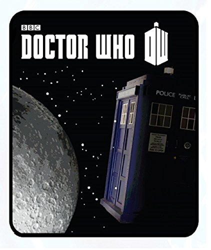 Doctor Who Tardis Moon in Space Fleece Throw Blanket50'x60'