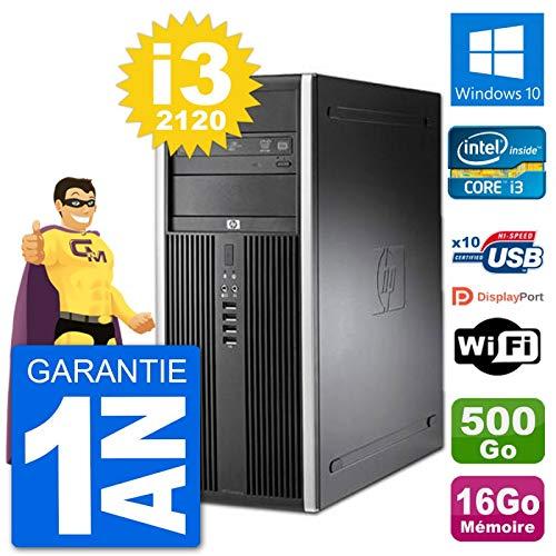 HP PC Tour 8200 Intel Core i3-2120 RAM 16 GB Disco duro 500 GB Windows 10 WiFi (reacondicionado)