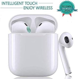 Bluetooth Kopfh/örer kompatibel mit Apple Airpods Android//iPhone Popup-Fenster mit Echtzeit-Display Wei/ß Drahtloses Touch-Bluetooth Noise-Cancelling-Kopfh/örer binaurale In-Ear-Sportohrh/örer