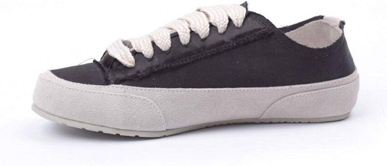 Ladies Canvas Low Top Lace up Pumps,Casual Sneakers Trainers shoes,Ladies Low Top Canvas Toe Cap Lace Up Pumps (color   White, Size   35)