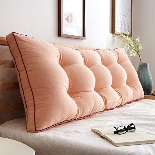 J-Kissen Triangle Bett liest Rückenkissen Kissen, zurück Keilkissen Kissen Tagesbett Polsterkopfteil Abnehmbarer waschbarer Bezug (Color : W, Size : 20x50x180cm(8x20x71inch))