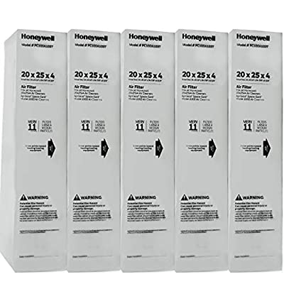 "Honeywell FC100A1037-5 20"" x 25"" Merv 11 Filter Media (Pack of 5)"