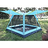 Tienda de mochilero Impermeable,Fácil Montaje, Compacta, Ligera Ideal para Acampada, Senderismo, Excursionismo, Camping (3-4 Personas),Blue
